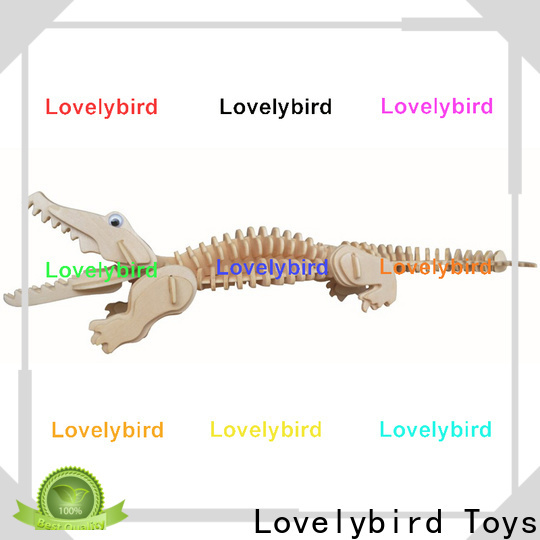Lovelybird Toys wholesale 3d wooden puzzle animals supply for kids