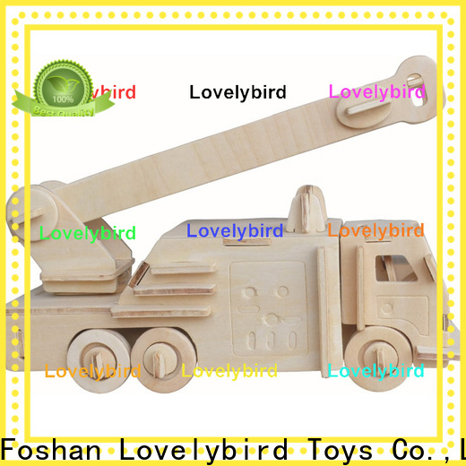 Lovelybird Toys 3d puzzle truck suppliers for entertainment