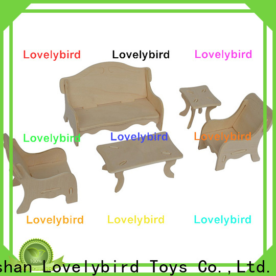 Lovelybird Toys 3d wooden puzzle dollhouse furniture supply for game