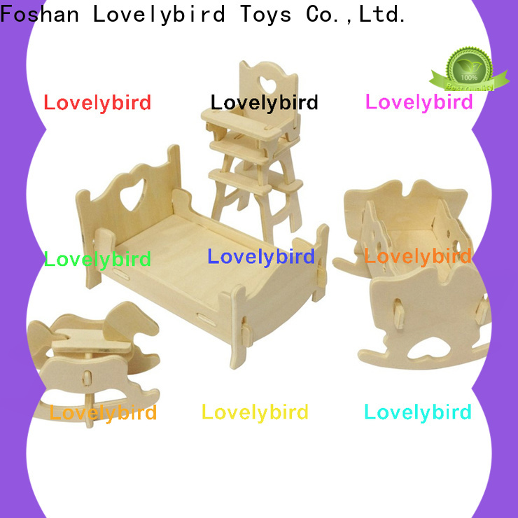 Lovelybird Toys 3d wooden puzzle dollhouse furniture company for adult