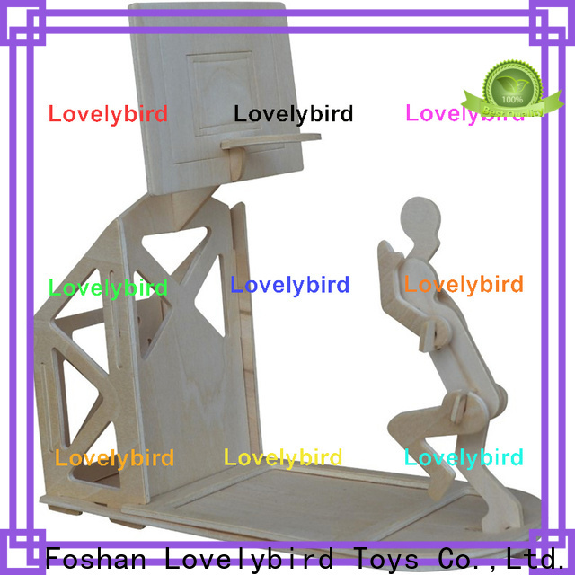 Lovelybird Toys custom 3d wooden puzzle dollhouse furniture factory for present