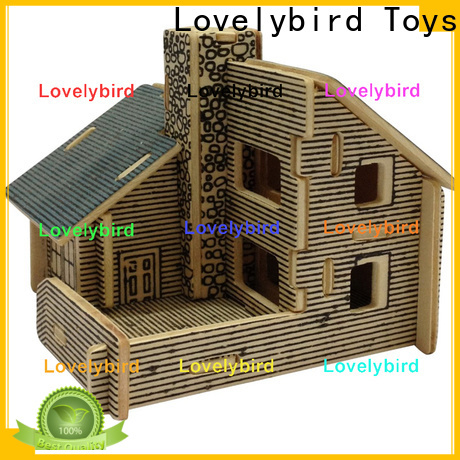 Lovelybird Toys 3d wooden puzzle house factory for present