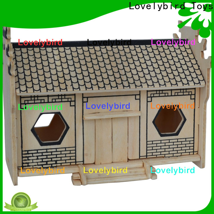 Lovelybird Toys wholesale 3d wooden puzzle house supply for adults