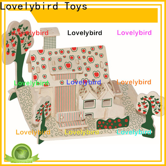 Lovelybird Toys good selling 3d wooden house puzzles factory for present