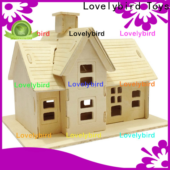 Lovelybird Toys best 3d wooden puzzle house supply for kids