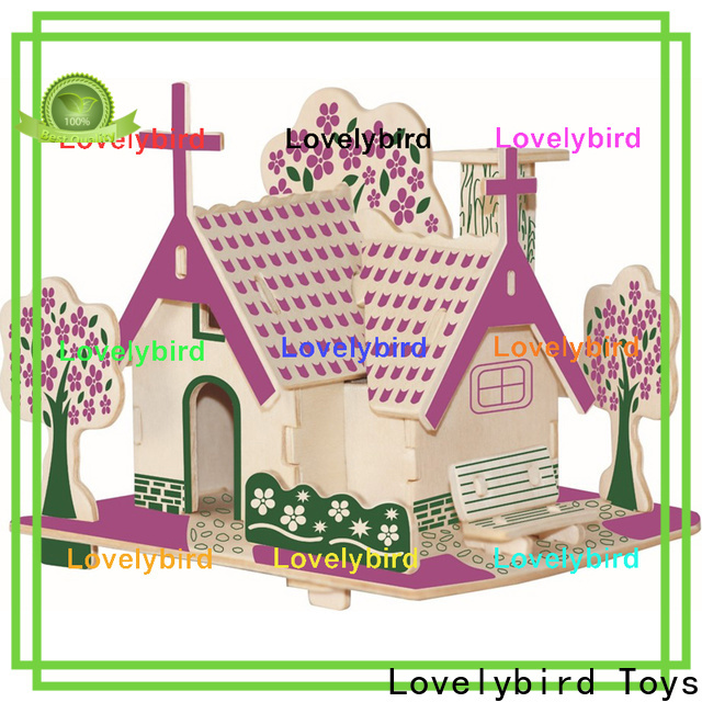 Lovelybird Toys good selling 3d wooden puzzle house company for kids
