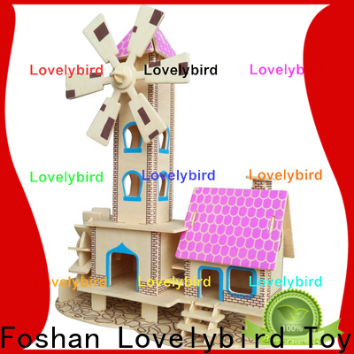 latest 3d wooden puzzle house factory for sale