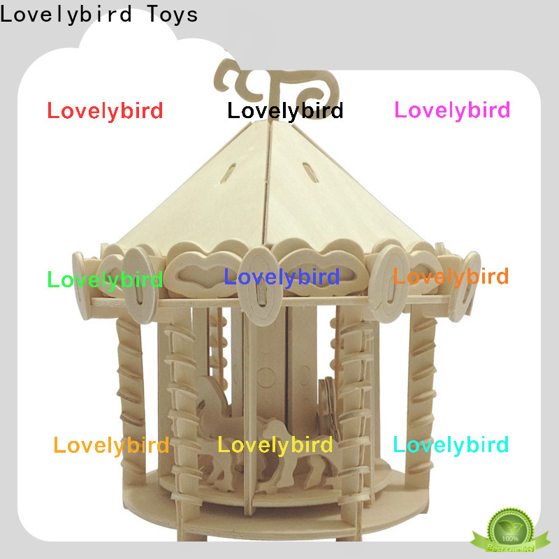 Lovelybird Toys custom 3d wooden house puzzles supply for adults