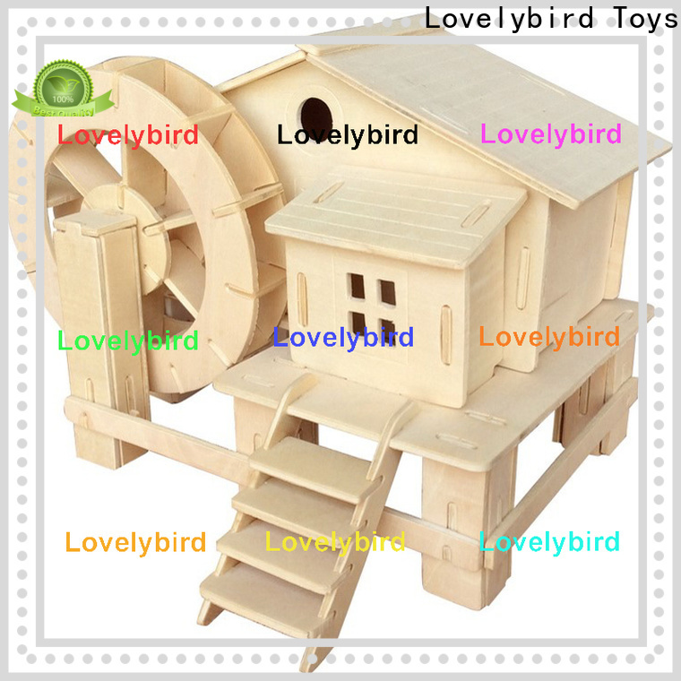 top 3d wooden house puzzles supply for business