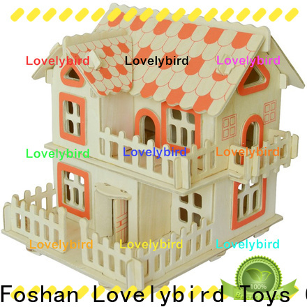 Lovelybird Toys 3d wooden house puzzles manufacturers for sale