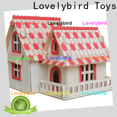 Lovelybird Toys wholesale 3d wooden house puzzles factory for present