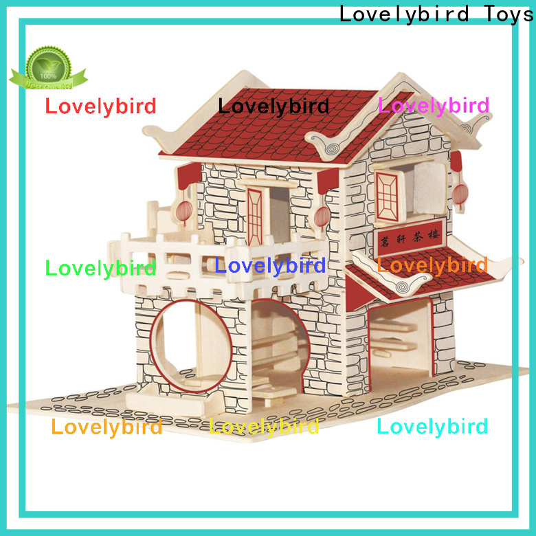 hot sale 3d wooden house puzzles supply for present