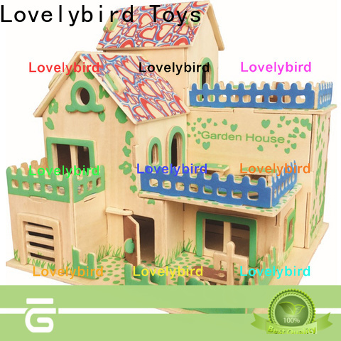 Lovelybird Toys 3d wooden house puzzles suppliers for present