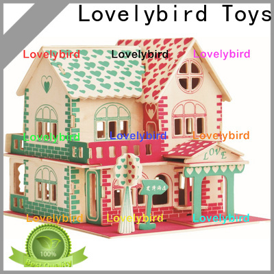 Lovelybird Toys high-quality 3d wooden puzzle house suppliers for business