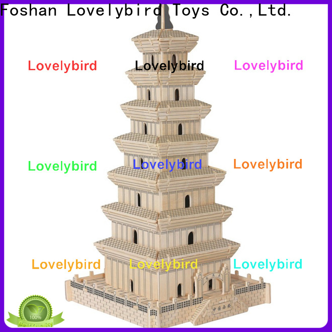 Lovelybird Toys top 3d wooden house puzzles factory for kids