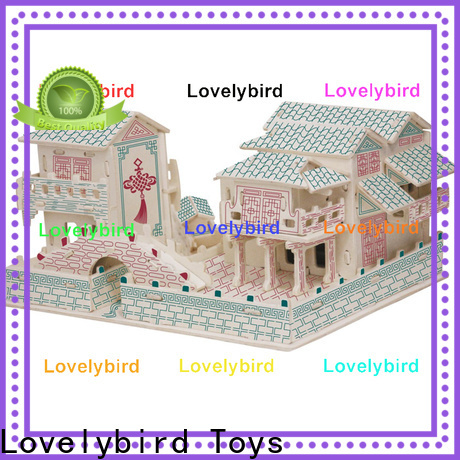 Lovelybird Toys interesting 3d wooden house puzzles factory for present
