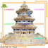 hot sale 3d wooden house puzzles supply for kids