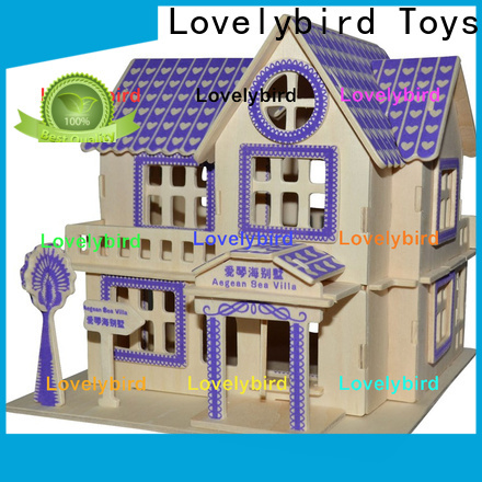 Lovelybird Toys hot sale 3d building puzzle factory for kids