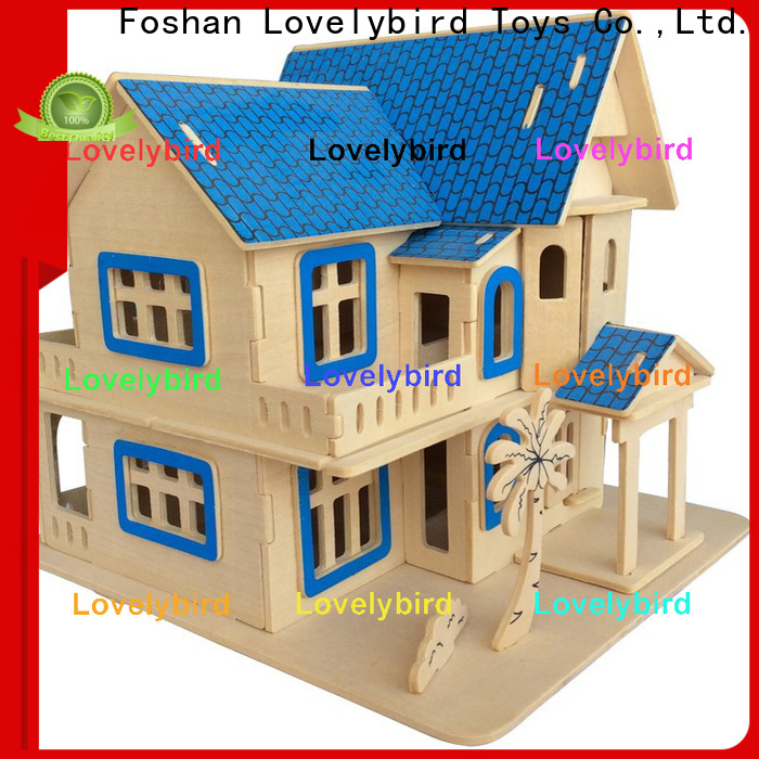 Lovelybird Toys 3d wooden house puzzles company for kids