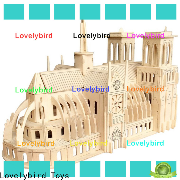 wholesale 3d wooden house puzzles manufacturers for business
