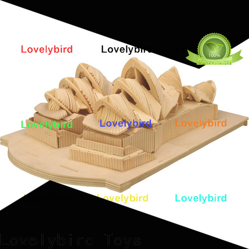 high-quality 3d wooden house puzzles factory for sale