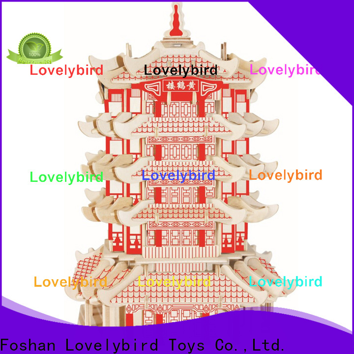 Lovelybird Toys 3d wooden house puzzles manufacturers for kids