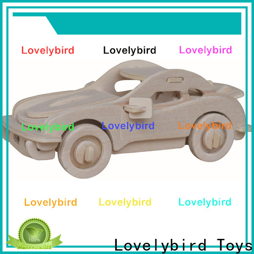 Lovelybird Toys 3d wooden car puzzle factory for business