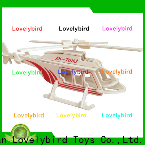 Lovelybird Toys 3d wooden puzzle car suppliers for present