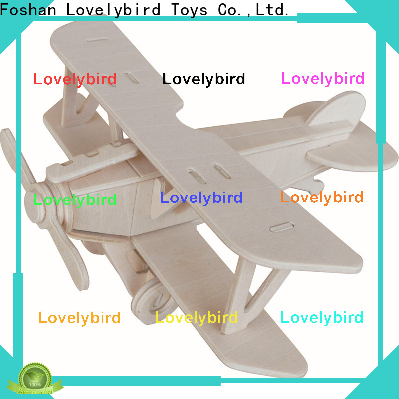Lovelybird Toys 3d wooden car puzzle factory for adults