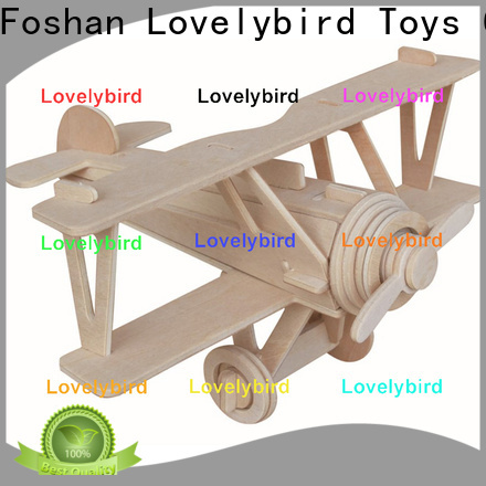 Lovelybird Toys 3d wooden car puzzle supply for entertainment