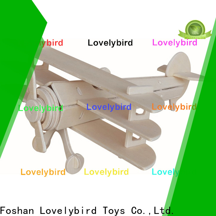 Lovelybird Toys 3d airplane puzzle manufacturers for kids