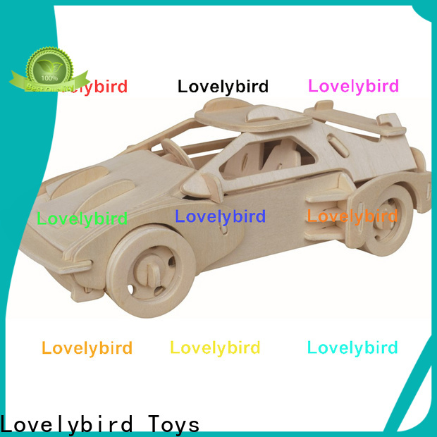 Lovelybird Toys 3d wooden car puzzle factory for entertainment