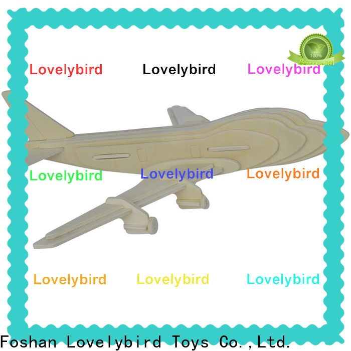 Lovelybird Toys high-quality 3d wooden puzzle car supply for kids