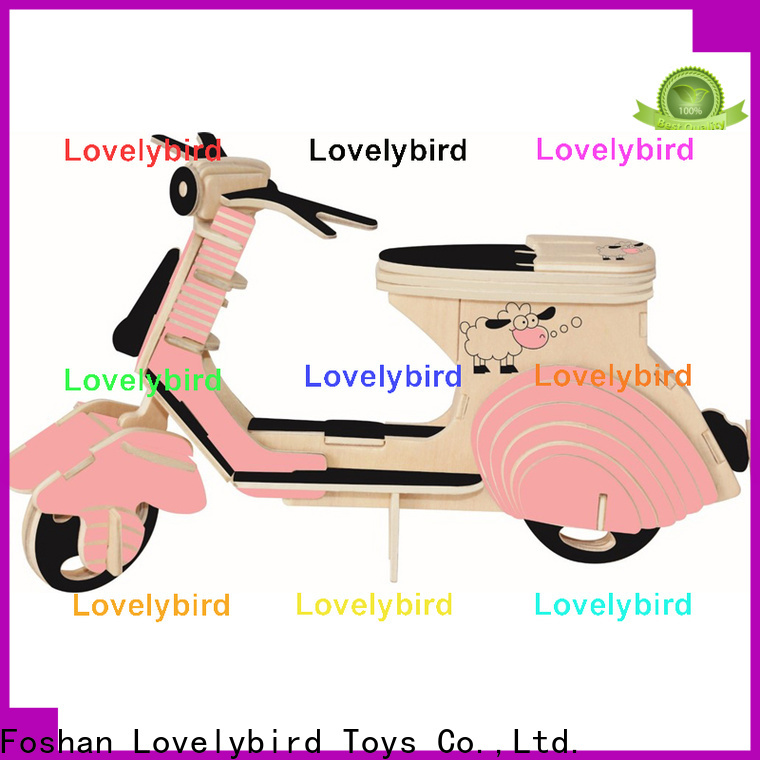 Lovelybird Toys 3d wooden puzzle car manufacturers for kids