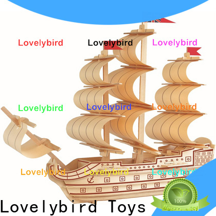 Lovelybird Toys custom 3d wooden puzzle ship manufacturers for entertainment