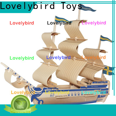 Lovelybird Toys 3d wooden car puzzle suppliers for business