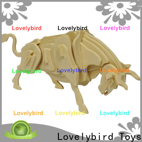 Lovelybird Toys wooden 3d animal puzzles suppliers for kids