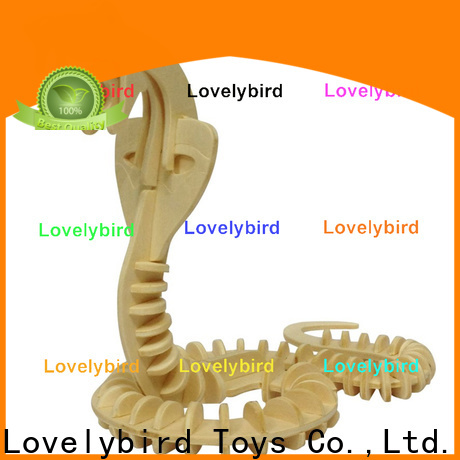 Lovelybird Toys 3d wooden puzzle animals factory for kids