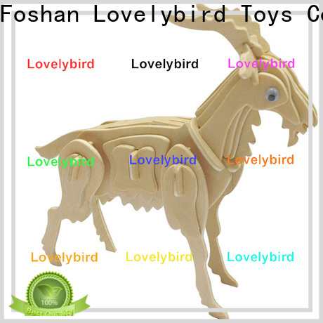 Lovelybird Toys latest wooden 3d animal puzzles manufacturers for entertainment