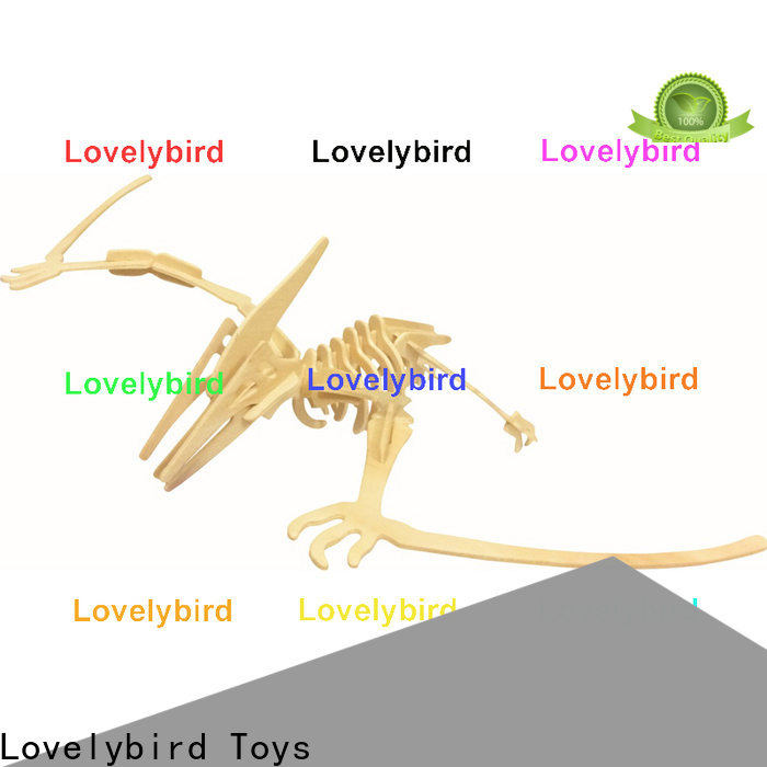 Lovelybird Toys fast delivery wooden 3d animal puzzles manufacturers for present