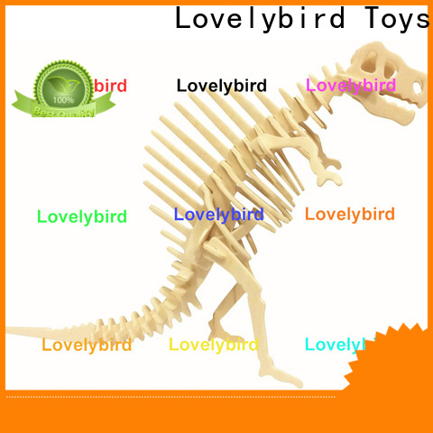 Lovelybird Toys beautiful wooden 3d animal puzzles suppliers for sale