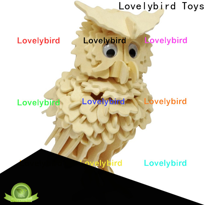 Lovelybird Toys 3d wooden animal puzzle supply for present