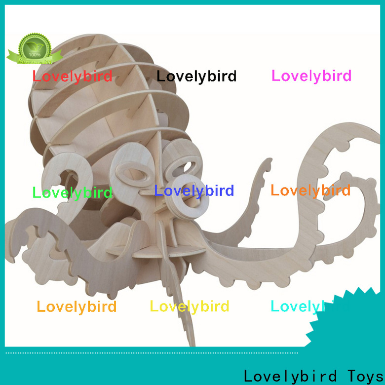 Lovelybird Toys new 3d wooden puzzle animals company for sale