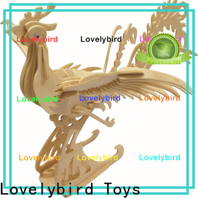 Lovelybird Toys high-quality wooden 3d animal puzzles factory for kids
