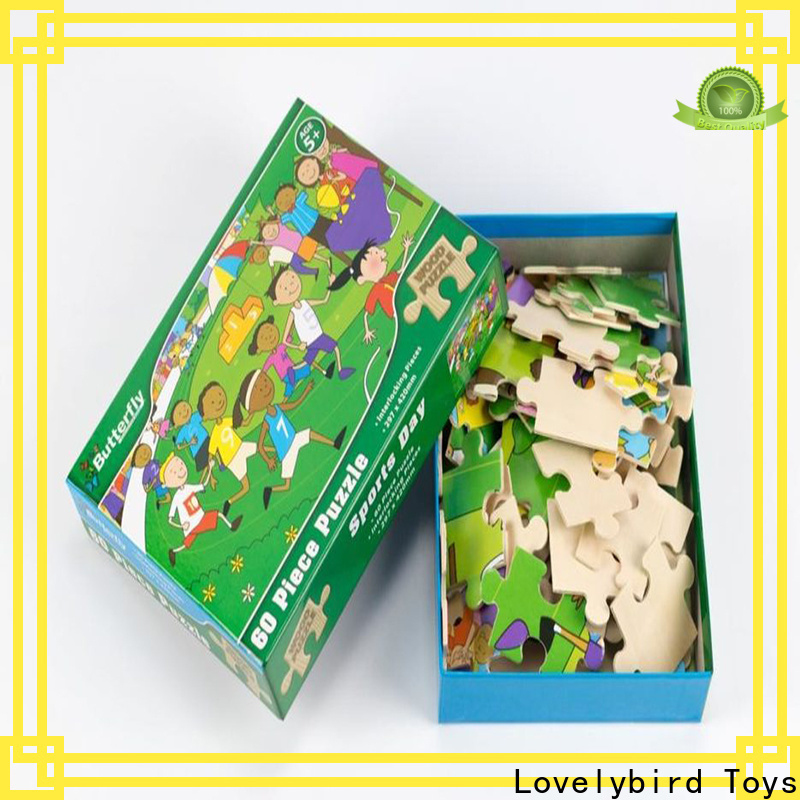 Lovelybird Toys wooden jigsaw puzzles with poster for entertainment