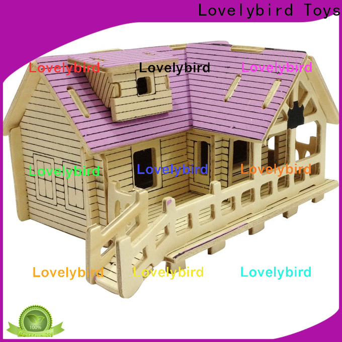 Lovelybird Toys 3d building puzzle factory for present