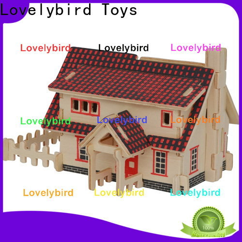 interesting 3d wooden puzzle house company for present