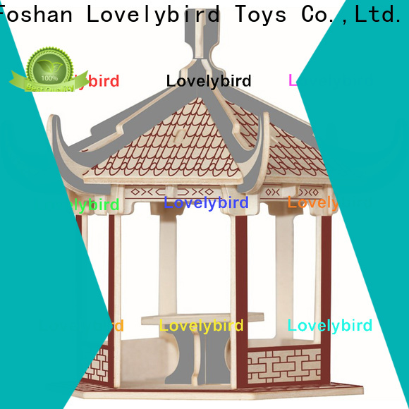 Lovelybird Toys high-quality 3d wooden house puzzles suppliers for kids