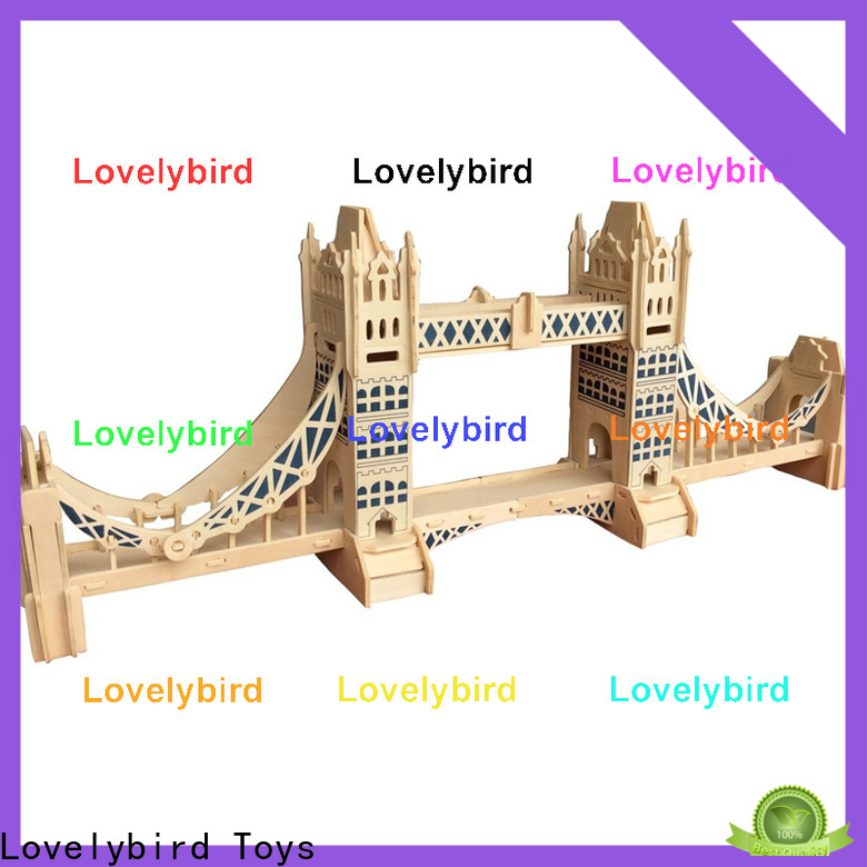 Lovelybird Toys 3d wooden house puzzles manufacturers for adults