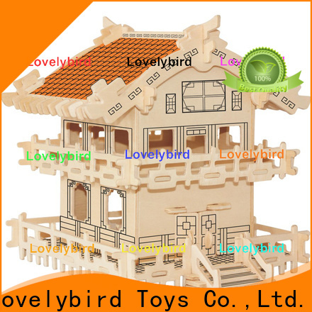 Lovelybird Toys 3d wooden puzzle house factory for kids